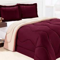 Edredom de Malha Queen Luxo   2 Porta Travesseiros Casa Dona -