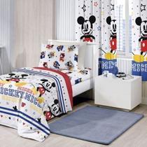 Edredom Dupla Face Solteiro Mickey Play - Disney - Santista -