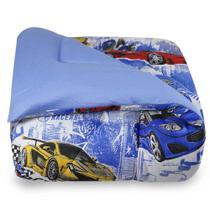 Edredom Infantil BBC Têxtil Malha - Carros -