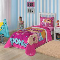 a5f0136e6c Edredom Infantil Patrulha Canina Rosa Solteiro Lepper -