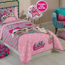 401a35efcf Edredom LOL Surprise Solteiro 150x200cm Rosa Infantil Lepper