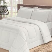 Edredom Quality Casa Dona Dupla Face Casal Queen 240x220cm Branco -