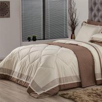 Edredom Queen Plumasul Soft Comfort 240X260Cm Microfibra Bege -