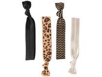 Elástico de Cabelo 4 Unidades Lanossi - Hair Ties Animal Print