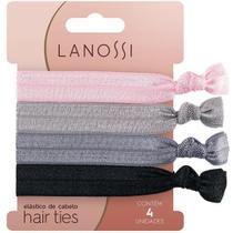 Elastico de Cabelo 4 Unidades Lanossi Hair Ties Silver LS2514 -