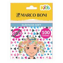 Elástico de Cabelo Soft Coloridos 100 Unidades Marco Boni -