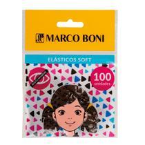 Elástico de Cabelo Soft Marrom com 100 Unidades - Marco Boni -