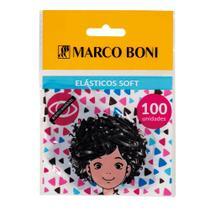 Elástico de Cabelo Soft Preto com 100 Unidades - Marco Boni -