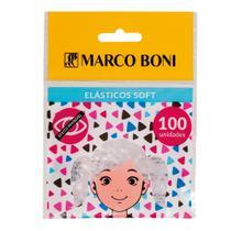 Elástico de Cabelo Soft Transparente 100 Unidades Marco Boni -