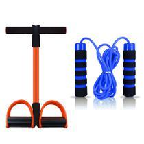 Elástico de Tensão para Exercícios Tube Fit + Corda de Pular - MBfit -