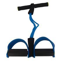 Elástico Malhar Extensor Academia Treino Pilates - Azul - Novo seculo