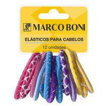 Elástico Para Cabelo Linha Daily com 12 Unidades Marco Boni -