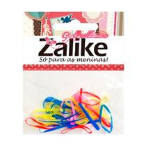 Elástico para Cabelo Zalike Silicone Colorido Ref: 2031 com 20 Unidades - Zailike
