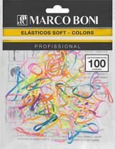 Elastico soft colorido para pénteados 100 un marco boni -