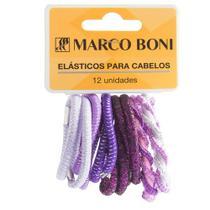 Elásticos Para Cabelo Linha Daily com 12 unidades Marco Boni -