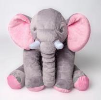 Elefante almofada baby com Rosa - Cilinho confeccoes
