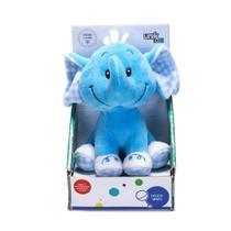 Elefante De Pelúcia Com Chocalho Azul Unik Toys -