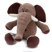 Elefante de Pelúcia Marrom 53 cm Antialérgico - Ctx