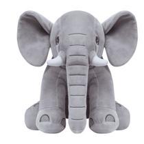Elefantinho Gigante Almofada Pelucia Cinza Antialergica Para Criança Bebe Unisex Buba Baby. -