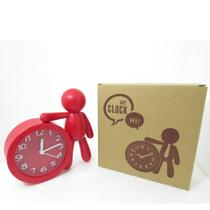 Elegante Relógio Temático Decorativo De Mesa Mart Vermelha -