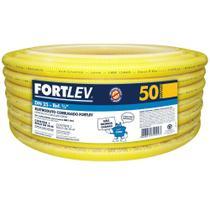"Eletroduto Corrugado 3/4"" 25mmx50m Amarelo - Fortlev"