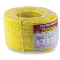 Eletroduto Corrugado Flexível 3/4 Dn 25 10 Metros Amarelo Force Line - Forceline