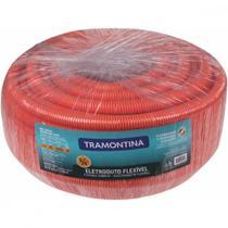 """Eletroduto Corrugado Reforçado Flexível DN25 3/4"""" Tramontina 50 m -"""