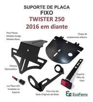 Eliminador de Rabeta FIXO Honda CB Twister 250 (2016 a 2021) p/ Setas Originais - Ecoferro