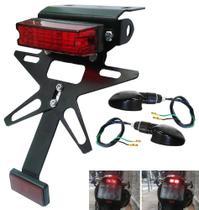 Eliminador Rabeta FIXO Honda Bros 125/150 (2003 a 2008) COM Lanterna LED + 02 Piscas - Ecoferro