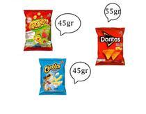 Elma Chips Doritos 55gr + fandangos 45gr + cheetos 45gr- 60 un -