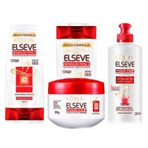 Elseve Reparação Total 5 Kit - Shampoo + Condicionador + Creme de pentear + Tratamento -