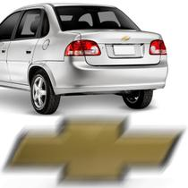 Emblema Chevrolet Tampa Traseira Corsa Classic 2002 a 2016 Dourado Borda Cromada Encaixe Perfeito - Prime