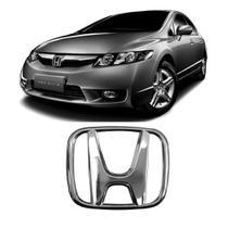 Emblema de grade dianteira Honda New Civic e New Fit 2008 2009 2010 2011 - Blawer