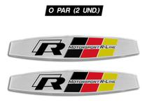 Emblema Motorsport R Line Gol Golf Jetta Amarok Tiguan (par) - Metal imp.
