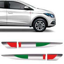 Emblema Resinado Aplique Lateral Itália Universal Par - Sportinox