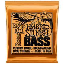 Encord. ernie ball p/ baixo 4 cordas 045-105 hy slinky 2833 -