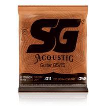 Encordoamento 0.11 SG Violão Aço Custom Light Acoustic 6686 -
