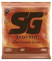 Encordoamento. 011 Bronze Fosforo P/violao Sg6691 -