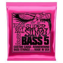 Encordoamento 040-125 baixo 5 cordas super slinky ernie ball -