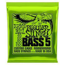 Encordoamento 045.130 baixo 5 cordas 2836 regular slinky - ernie ball -