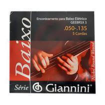 Encordoamento 050 Contra Baixo 5 Cordas Giannini GEEBRSX5 -