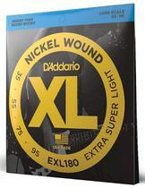 Encordoamento baixo 4 cordas 035 Daddario EXL180 super leve -