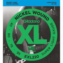 Encordoamento Baixo 4 Cordas Daddario .040 EXL220 Nickel -