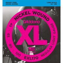 Encordoamento Baixo 4 Cordas Daddario .045 EXL170 Nickel -
