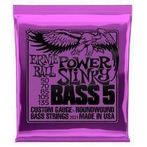 Encordoamento Baixo 5c Power Slinky Niquel P02821 Ernie Ball -