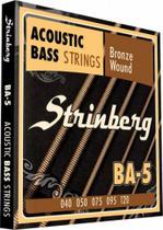Encordoamento Baixolao 5 Cordas Baixo Acustico Strinberg Ba5 -