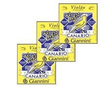 Encordoamento Canário Aço Bolinha kit com 03 jogos - Giannini