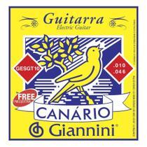 Encordoamento Canario Guitarra 010 Giannini - Canário