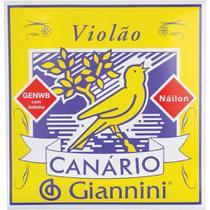 Encordoamento Canario Kit 3 Jogos Corda Violão Nylon Com Bolinha Giannini - Canário