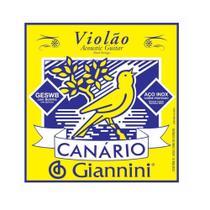 Encordoamento Canario Violão Aço Giannini - Canário